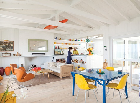Colorful Kitchen design by Kristopher Dukes