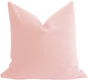 Belgium Velvet Pillow Cover Blush 24x24 Decorist