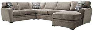 Stupendous Artemis Ii 4 Pc Microfiber Sectional Sofa Gypsy Vintage Pdpeps Interior Chair Design Pdpepsorg