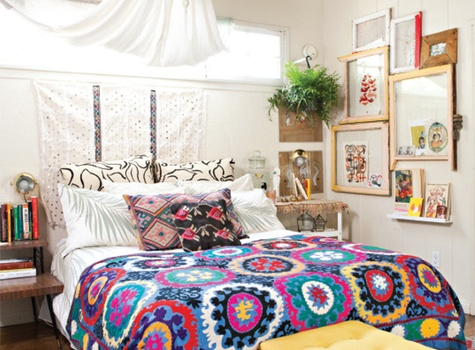 Bohemian Bedroom design by Justina Blakeney