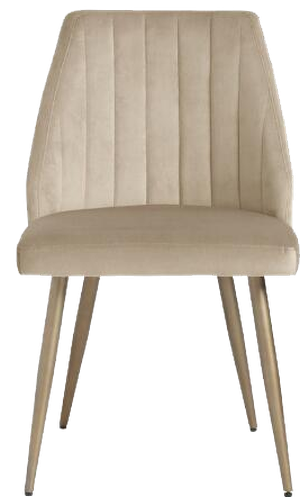 Channel Back Leilani Dining Chairs Set Of 2 Tan Decorist