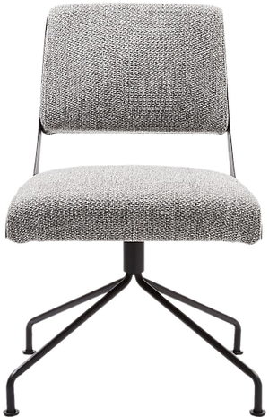 Rue Cambon Grey Tweed Office Chair Decorist