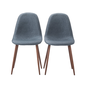 Wondrous Porter Mid Century Modern Dining Chairs Indigo Blue Set Of 2 Cjindustries Chair Design For Home Cjindustriesco