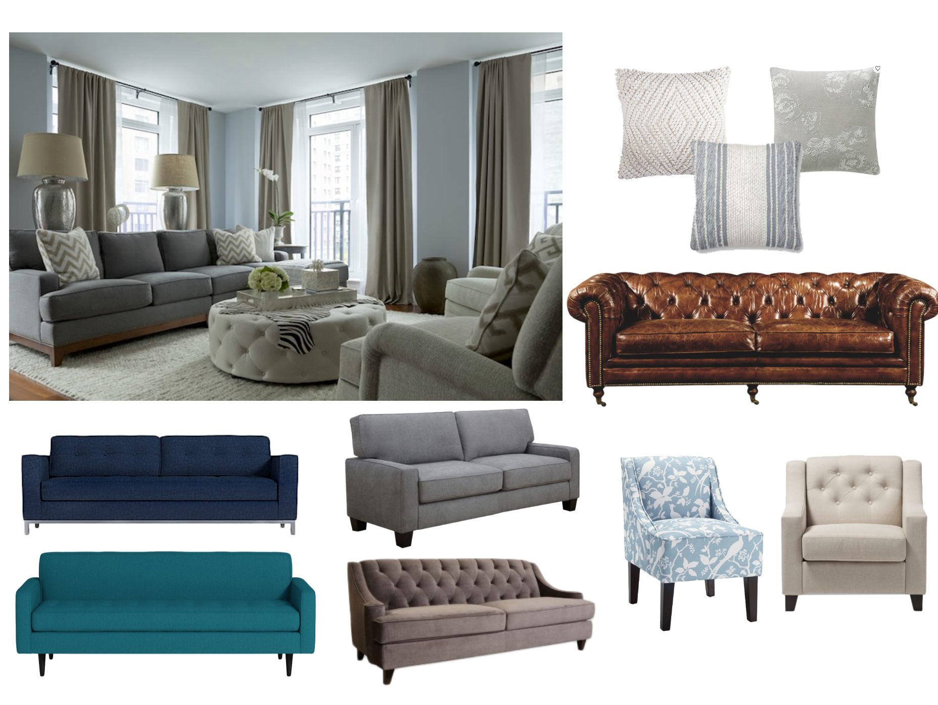 Picture of: Sofa Colors For Light Blue Gray Walls Decorist
