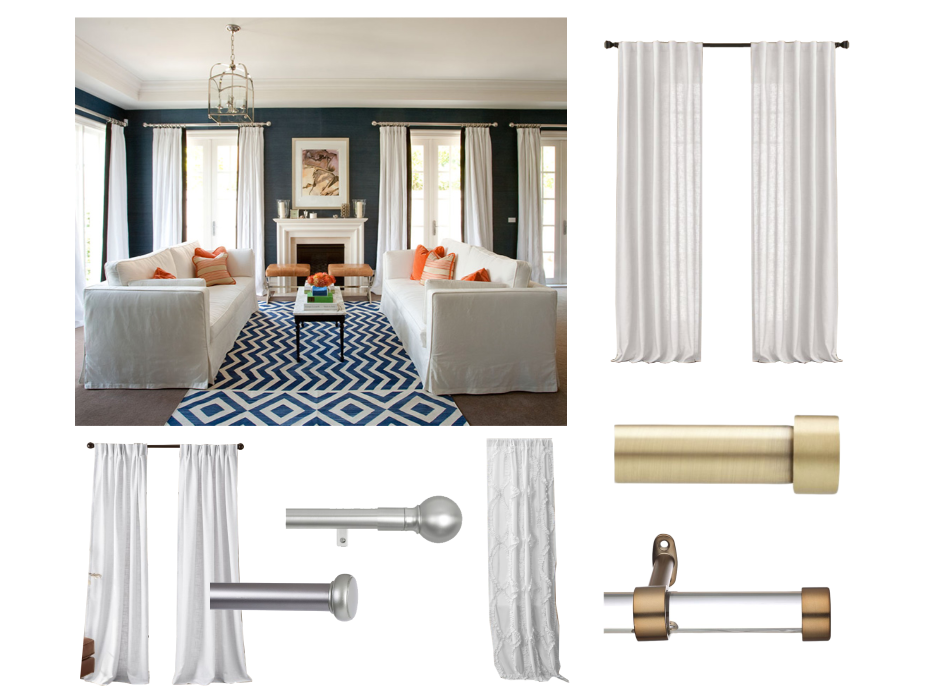 10 ways to decorate your home with shiplap.htm curtains in a room with a navy accent wall   decorist  room with a navy accent wall