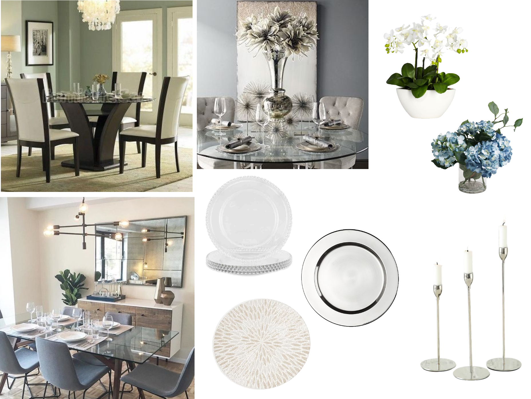 What Type Of Tabletop Decor Would Look Good With My Glass Top Dining Table Decorist