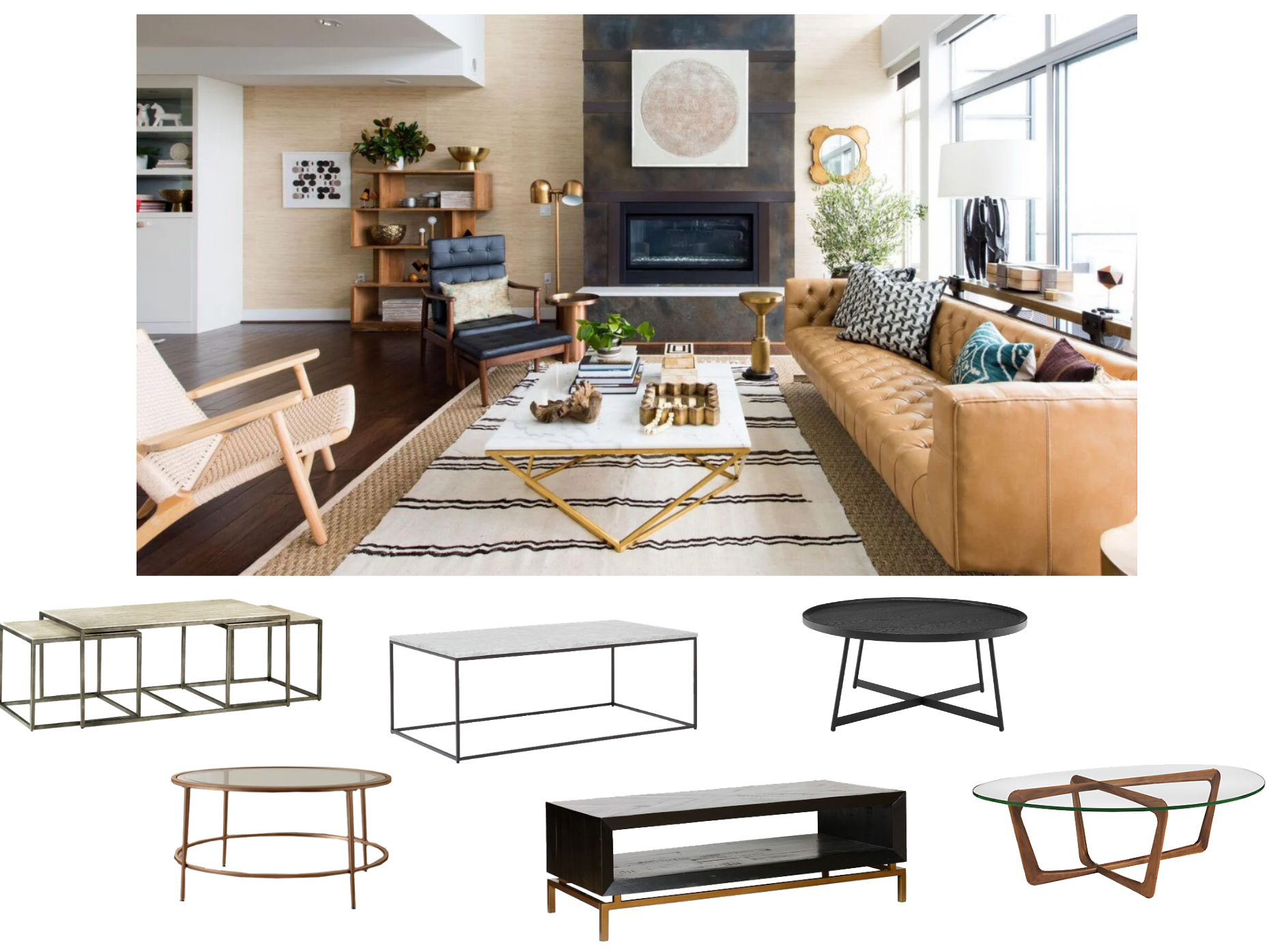 Can I Mix Furniture Materials In My Mid Century Modern Living Room Decorist