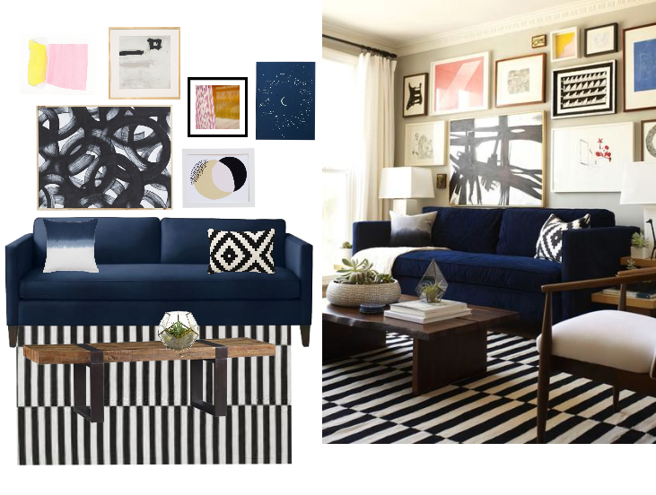 GET THE LOOK Glam Modern Eclectic Living Room