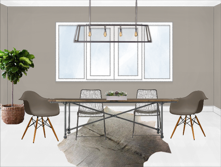 modern dining room table png. Erin Dining A Rustic Modern Room Makeover  Decorist