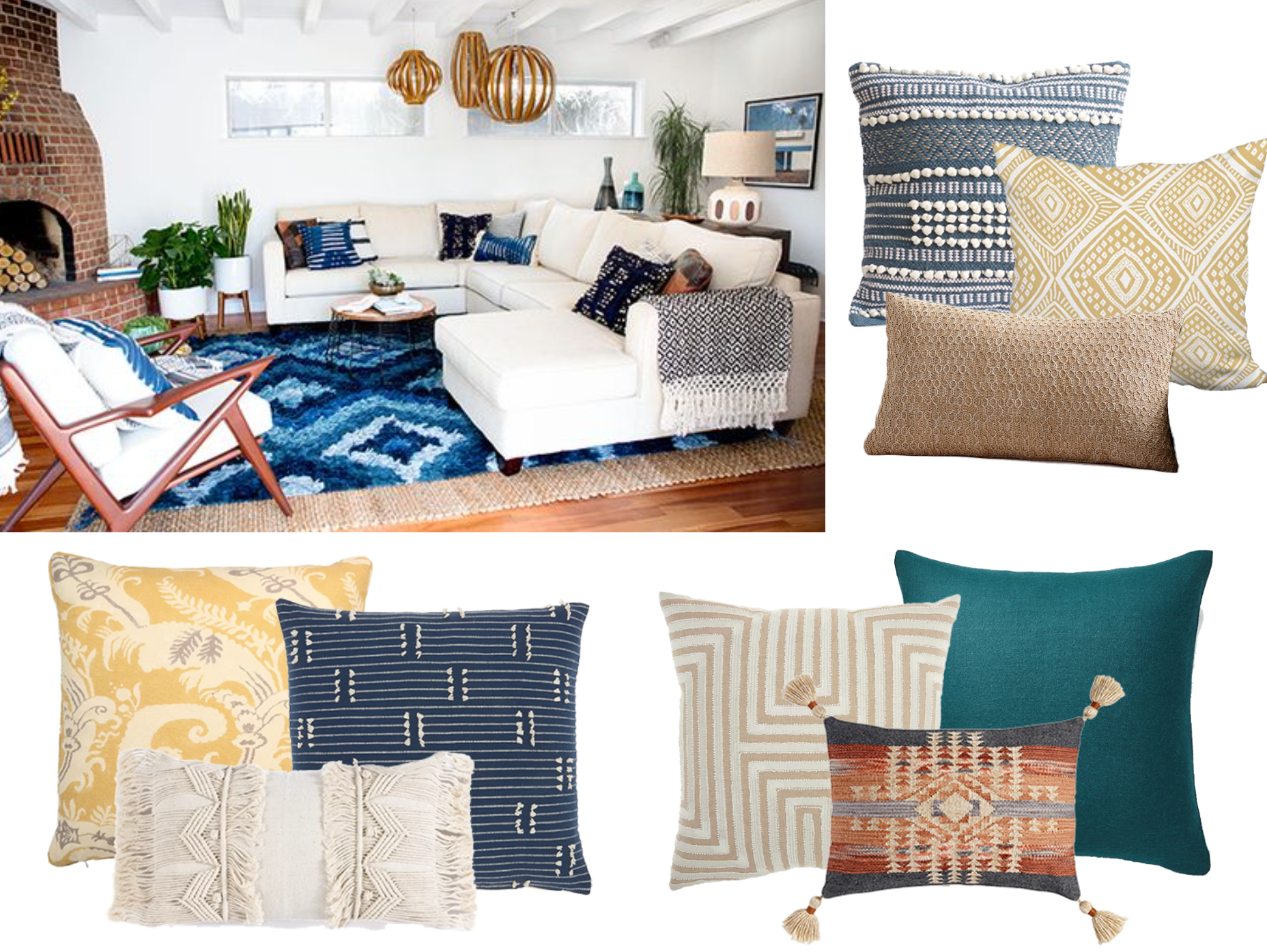 What Pillows Will Look Best On My Sofa In My Eclectic Home Decorist
