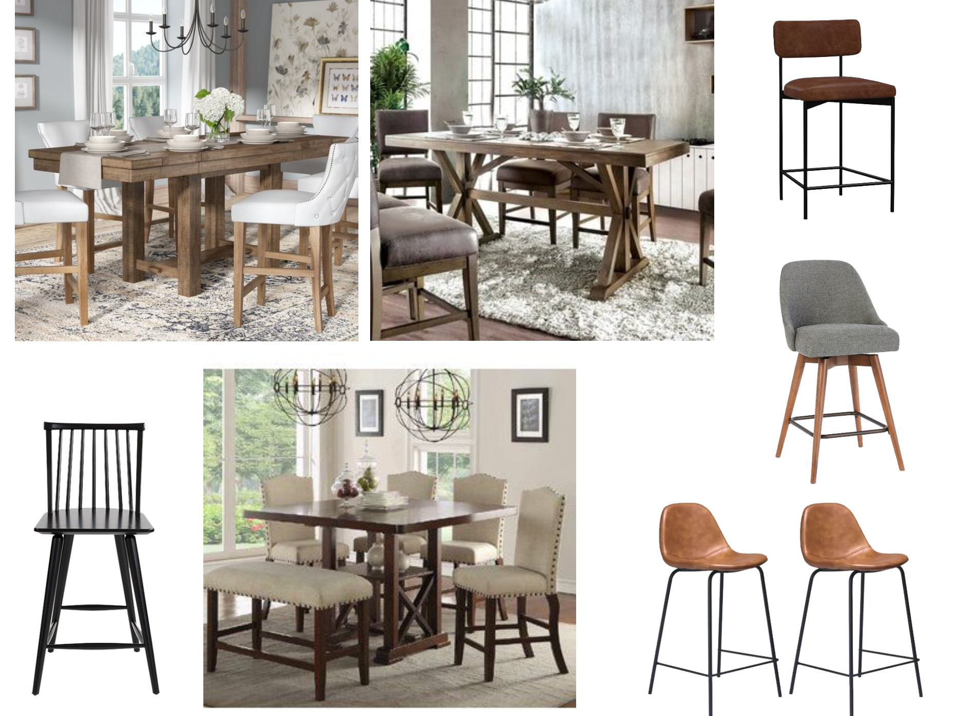 Download Dining Table Tall Chairs Background