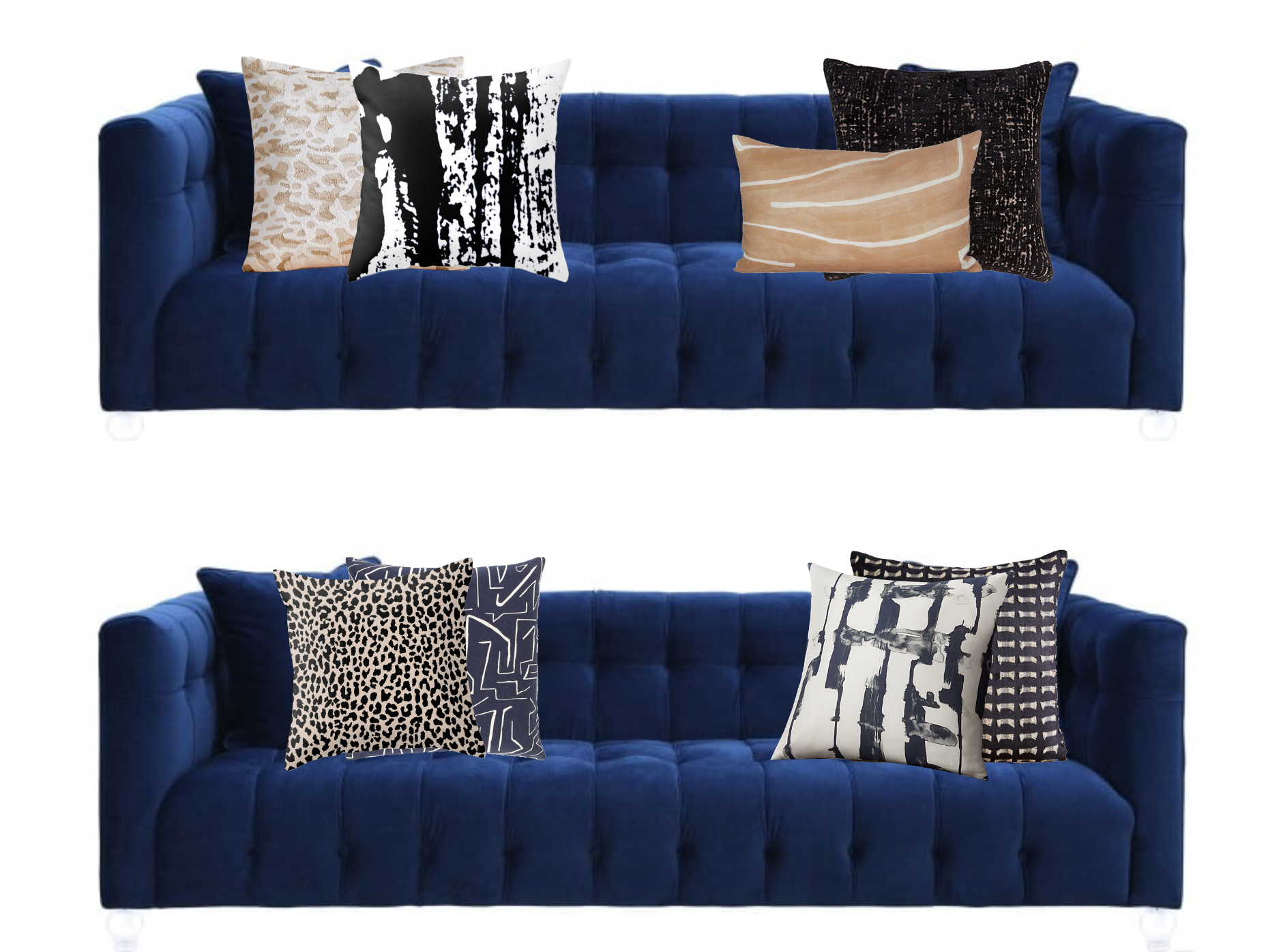 What Throw Pillows Should I Select For My Electric Blue Sofa Decorist