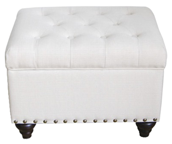 Captivating Threshold_ Tufted Storage Ottoman Bench With Nailhead_ Ivory | Decorist