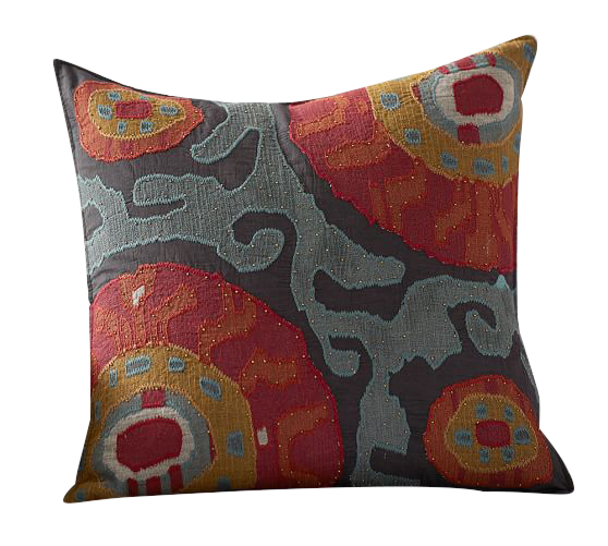 Houston Cropped Suzani Pillow Cover Decorist
