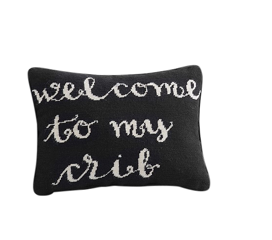 Welcome To My Crib Decorative Pillow Decorist Custom Decorative Crib Pillows