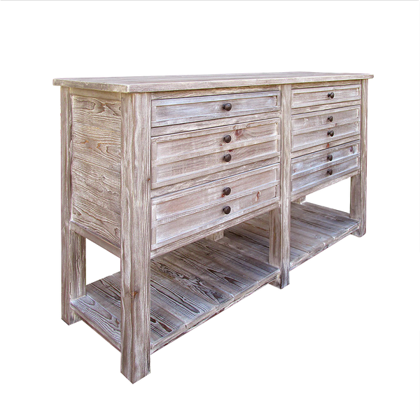 Entertainment Console Buffet Console Table Handmade Media Console Reclaimed Wood Sideboard