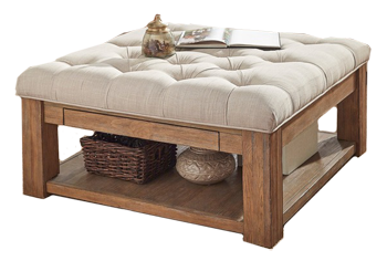 Outstanding Lennon Pine Square Storage Ottoman Coffee Table Belgina Linen Button Tufts Cjindustries Chair Design For Home Cjindustriesco