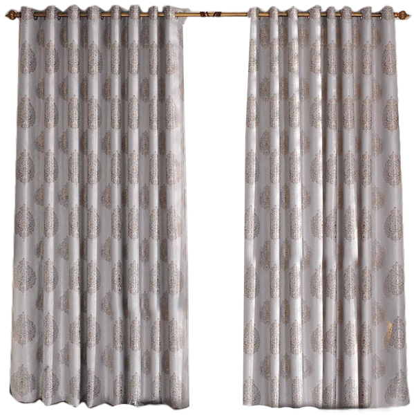 Silver And Brown Patterned Designer Discount Curtains And Drapes Grommet Top 84 W X 84 L Decorist
