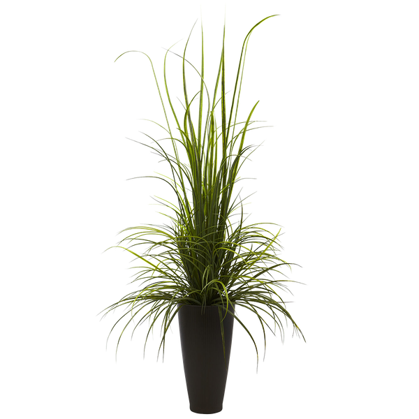 Nearly Natural River Grass Floor Plant in Decorative Vase ...