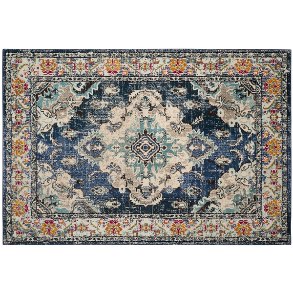 Shakti Navy Light Blue Area Rug 8x10