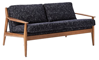 mathias mid century wood frame loveseat decorist - Wood Frame Loveseat