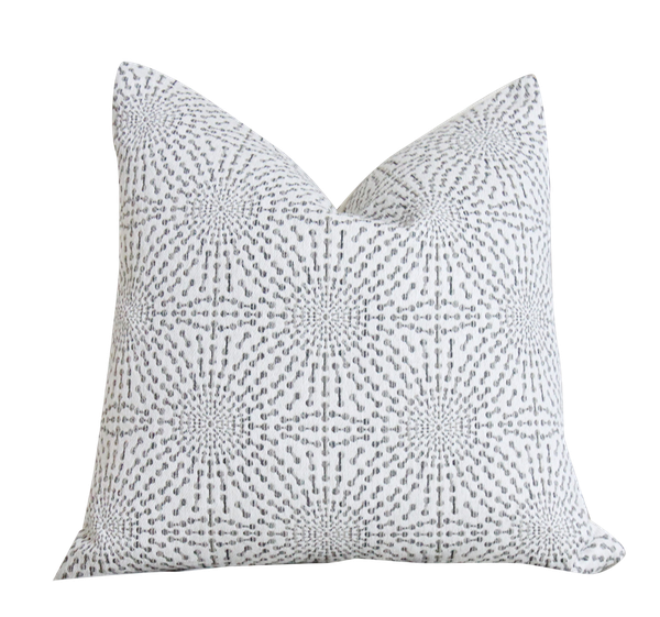 Gray Pillow Off White And Grey Pillow Cover Starburst Pillow 20x20 Double Sided Decorist