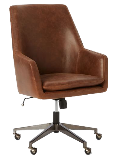 helvetica high-back leather office chair | decorist