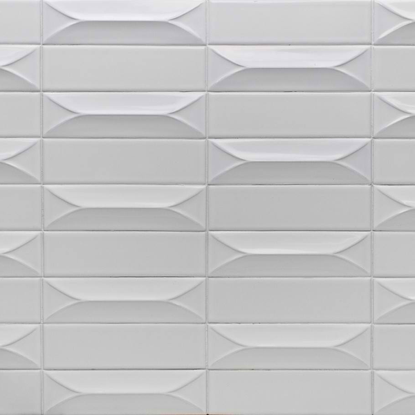 Byzantine Bianco 3d Ceramic Subway Tile Decorist