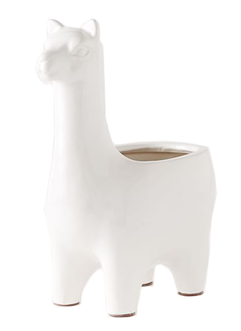 Ceramic Llama Planters Small Decorist