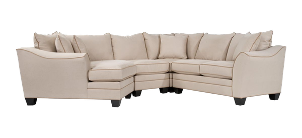 Foresthill 4 Pc Microfiber Sectional Sofa Light Taupe Decorist