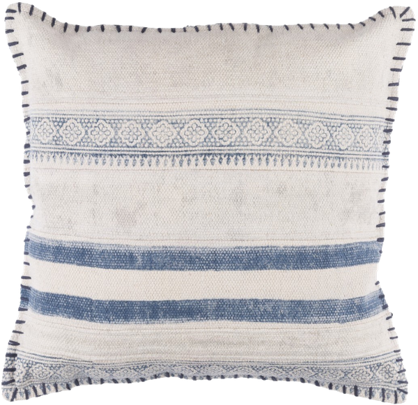 Decorative Horace 20 Inch Down Polyester Filled Throw Pillow Navy Down Fill Decorist