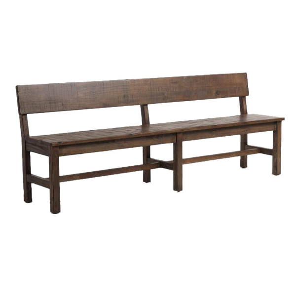 Marvelous Distressed Brown Wood Gulianna Extra Long Dining Bench Squirreltailoven Fun Painted Chair Ideas Images Squirreltailovenorg