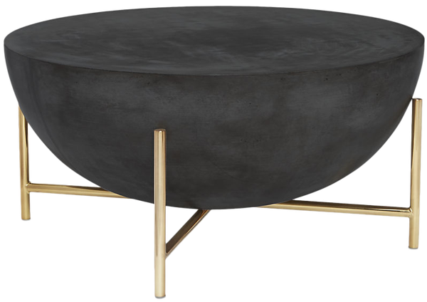 Darbuka Brass Coffee Table Decorist