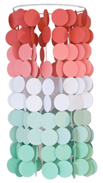 Coral And Mint Ombre Paper Crib Mobile Modern Circle Mobile Geometric Crib Mobile Nursery Mobile Teen Room Dorm Room Wedding Decor Decorist