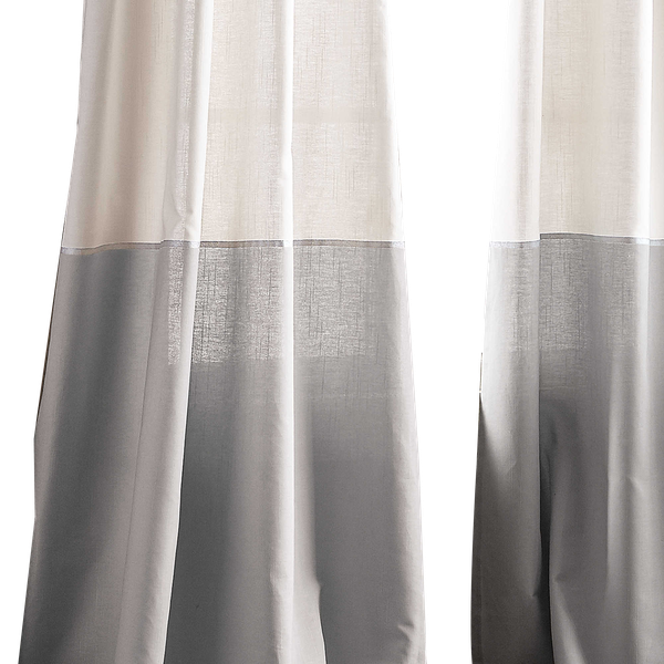 Dkny Color Band 108 Inch Grommet Top Window Curtain Panel In Grey