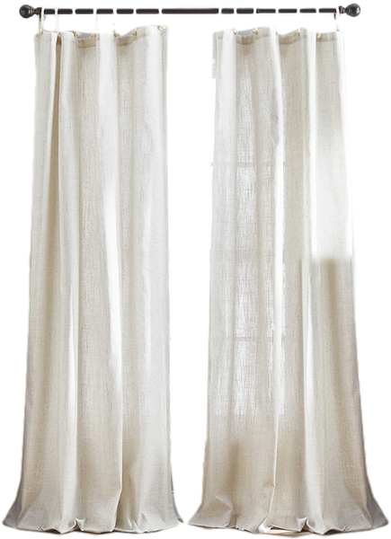Seattle 84 Inch Tie Tab Window Curtain Panel In Natural