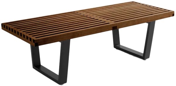 Stupendous Brenford Wood Bench Stained Walnut 14 5H X 48W X 18 5D Ibusinesslaw Wood Chair Design Ideas Ibusinesslaworg
