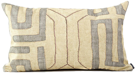 Faux Kuba Cloth Pillow Cover Cream And Taupe