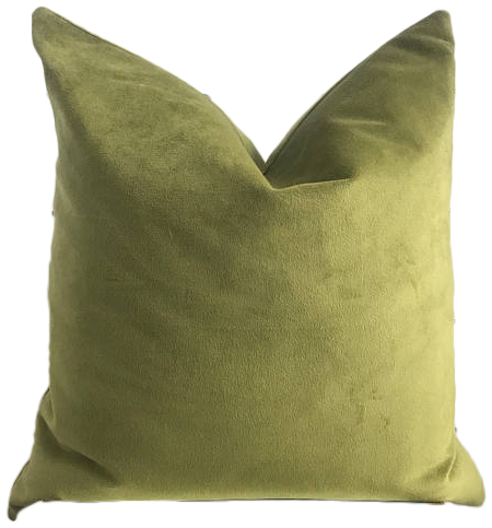 Olive Green Le Velvet Pillow Cover