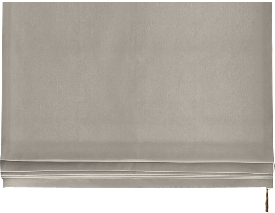 Brushed Cotton Twill Flat Roman Shade Fog Inside Mount 34 W X 68 L Continuous Loop Right Blackout Decorist