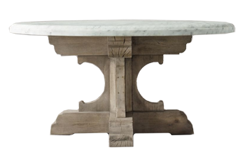 72 17th C French Bastide Oak Marble Round Dining Table Textured Natural Oak Decorist