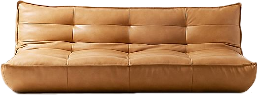 Greta Recycled Leather XL Sleeper Sofa | Brown