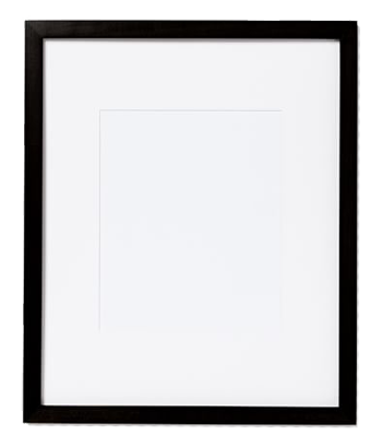 8 X 10 13 16 Without Mat Gallery Frames Black