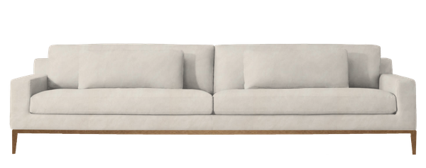 Fantastic Italia Track Arm Two Seat Leather Sofa Metal Base Petite Down Feather 6 Matte Brass Italian Turin Vellum Interior Design Ideas Ghosoteloinfo