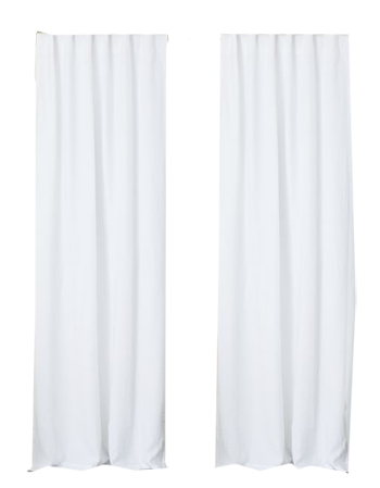 031a893be0fba Belgian Flax Linen Curtain - White