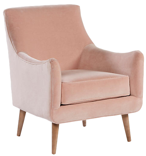 Blush Pink Accent Chairs.Oliver Accent Chair Blush Pink Velvet