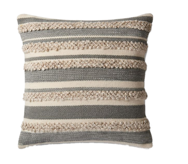 Magnolia Home By Joanna Gaines Zander Square Throw Pillow In Grey Ivory Decorist