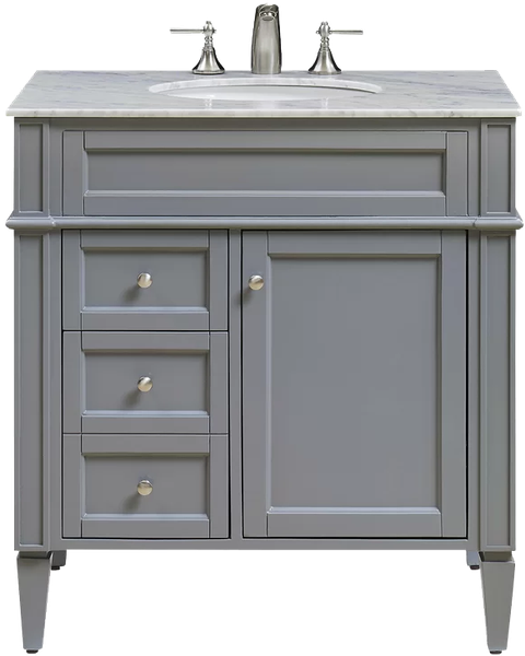 Antoinette 32 Single Bathroom Vanity Set Gray Decorist