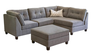 Stupendous Abbyson Living Amber 5 Piece Modular Sectional Sofa In Grey Caraccident5 Cool Chair Designs And Ideas Caraccident5Info