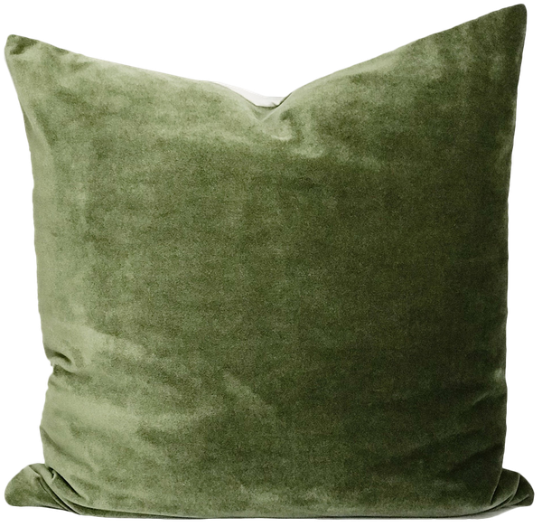 Boho Pillow Velvet Cover Olive